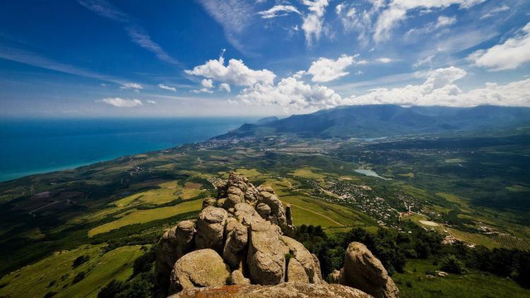 крымская панорама - Гора Демерджи + водопад Джур-Джур