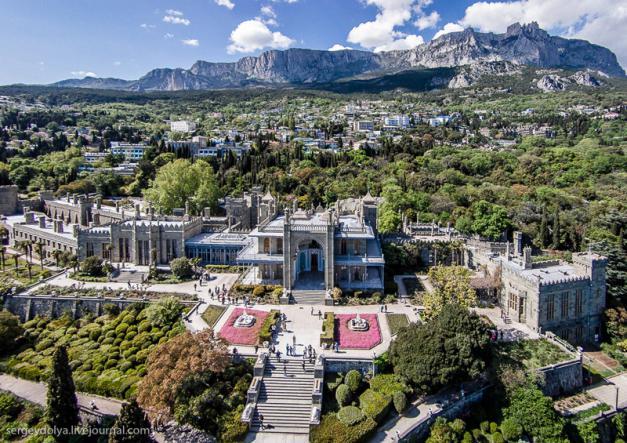 Воронцовский дворец в Крыму - Крым глазами кинолюбителя