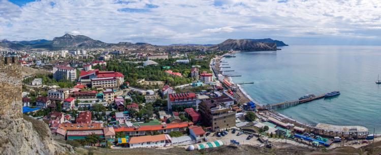 город Судак. Крым - Крым глазами кинолюбителя
