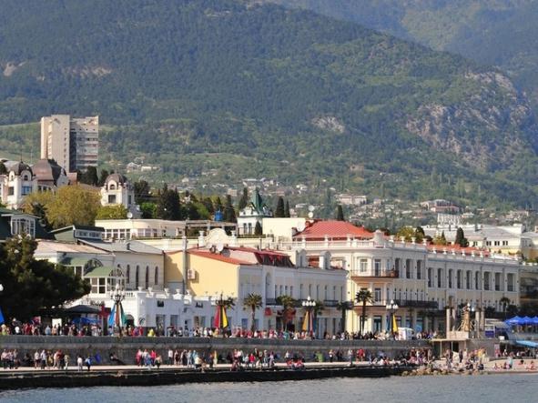 Ялта. Вид с моря - Крым глазами кинолюбителя
