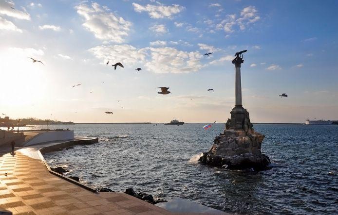 Памятник затопленным кораблям, г. Севастополь - Крым от Востока до Запада